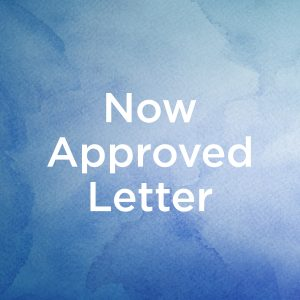 Now Approved Letter