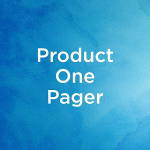 Product One Pager